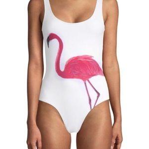 Onia Kelly One Piece Swimsuit Flamingo Sz L NWT